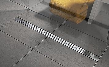 Extrem Duschrinne aus Edelstahl - lineare Boden-Abfluss-Rinne für Dusche SP25