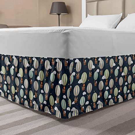ALL SIZE /& COLOR Pleated Bed Skirt 15 Inch Drop Home Bedding Decoration