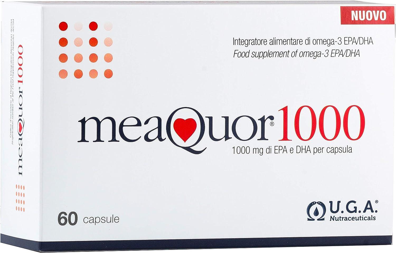 MEAQUOR® 1000 Complemento alimenticio, 1000 mg de EPA y DHA por cápsula   5 certificaciones IFOS en cada lote   60 cápsulas