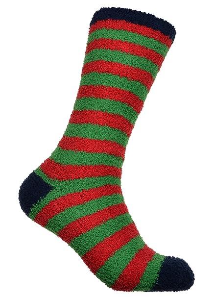 WB Socks calze da uomo morbide a strisce rosse e verdi - calde e soffici   Amazon.it  Abbigliamento e1d3f7f920e