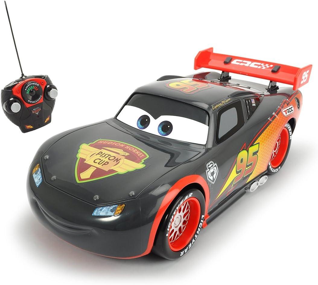 Cars - Rayo McQueen, coche con radiocontrol, escala 1:16, color gris (Dickie 3086000) , color/modelo surtido