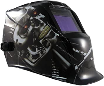 Expert Weld XWH7 9-13 carcasa Lightning casco Plus banda elástica de careta de seguridad para soldar activado y desactivado del modo función - negro, ...