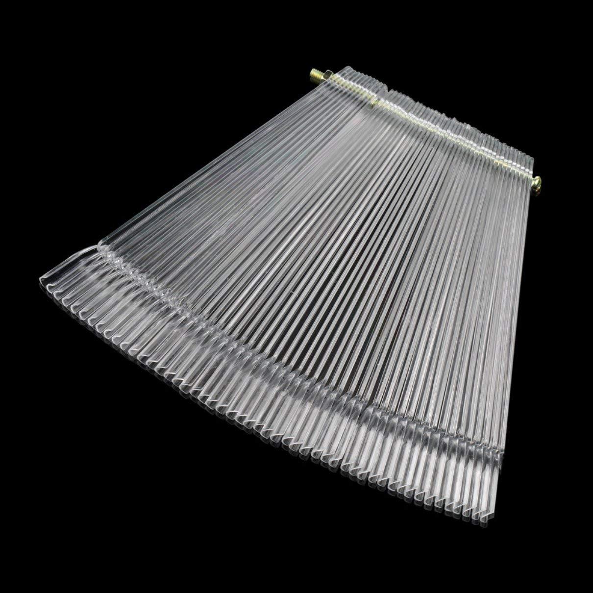 50 Piece Transparent False Nail Art Tips Stick Display Practice Fan Board Nail Art Fan Wheel Polish Tip Sticks Bellaluee