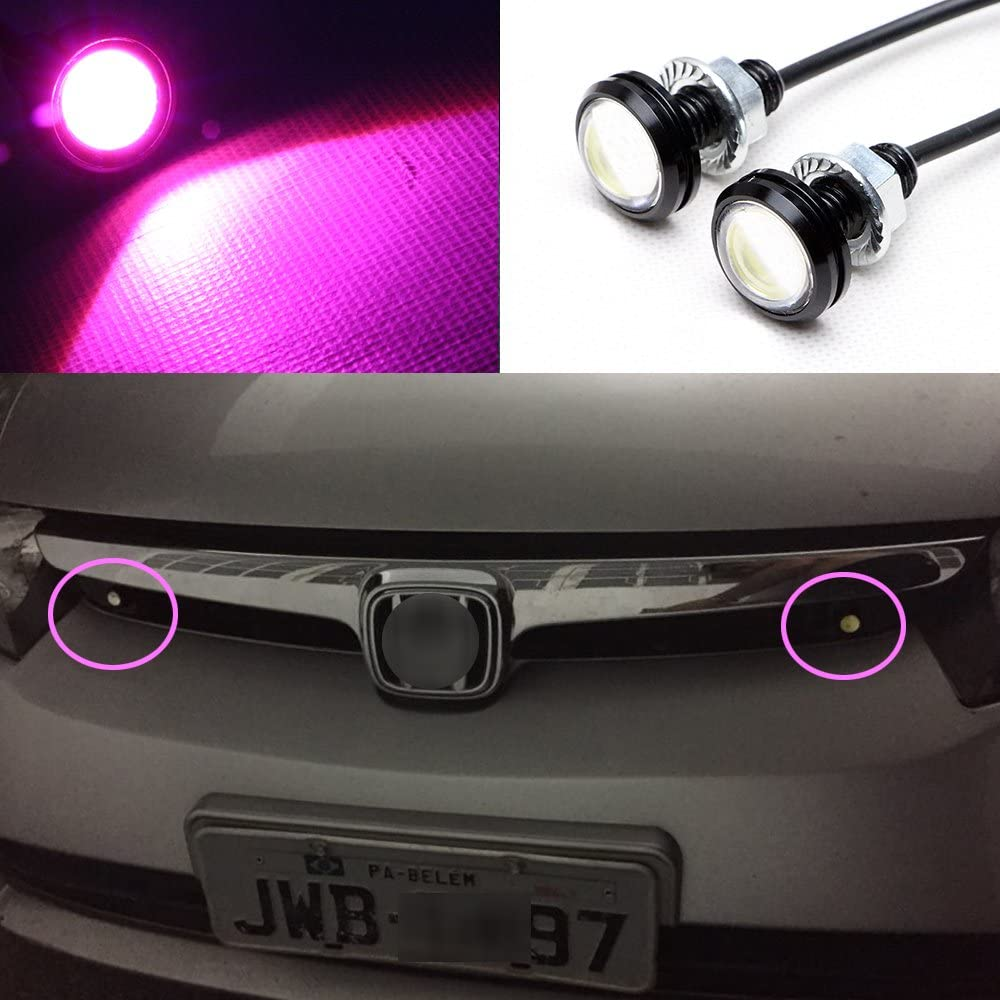 YITAMOTOR 20x Eagle Eye LEDs 23mm Motor Car High Power 9W Daytime Running Lighting DRL Tail Backup White Bulbs