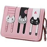 bd353b16ba36 Amazon | おしゃれ かわいい 猫の 二つ折り 財布 ノーブランド品 ...
