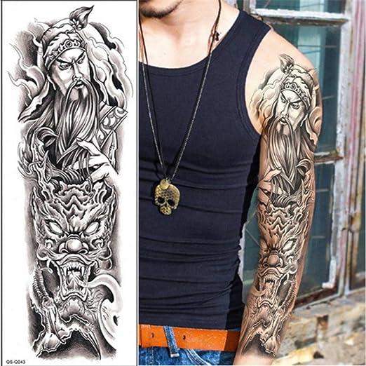 tzxdbh 3 Unids-Tatuaje Temporal Manga del Brazo Completo Tatuaje ...