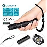 Olight M1 X 1000 Lumens Cree XM-L2 LED Flashlight Double Switch Tail Switch 18650 Battery Tactical Flashlight