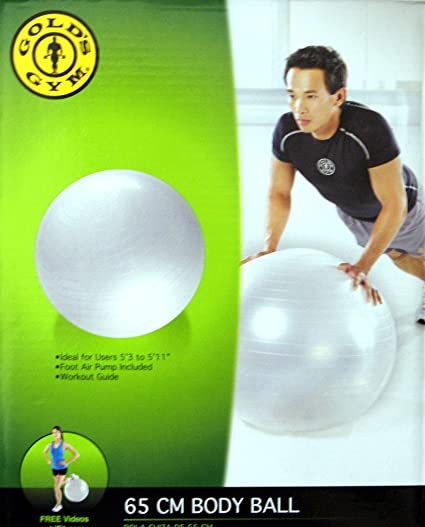 Amazon 65 CM EXERCISE BODY BALL With Pump Sports Outdoors