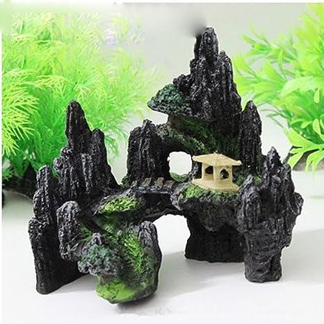 SO-buts Cueva para pecera, acuario, rocío y pecera, para colgar en