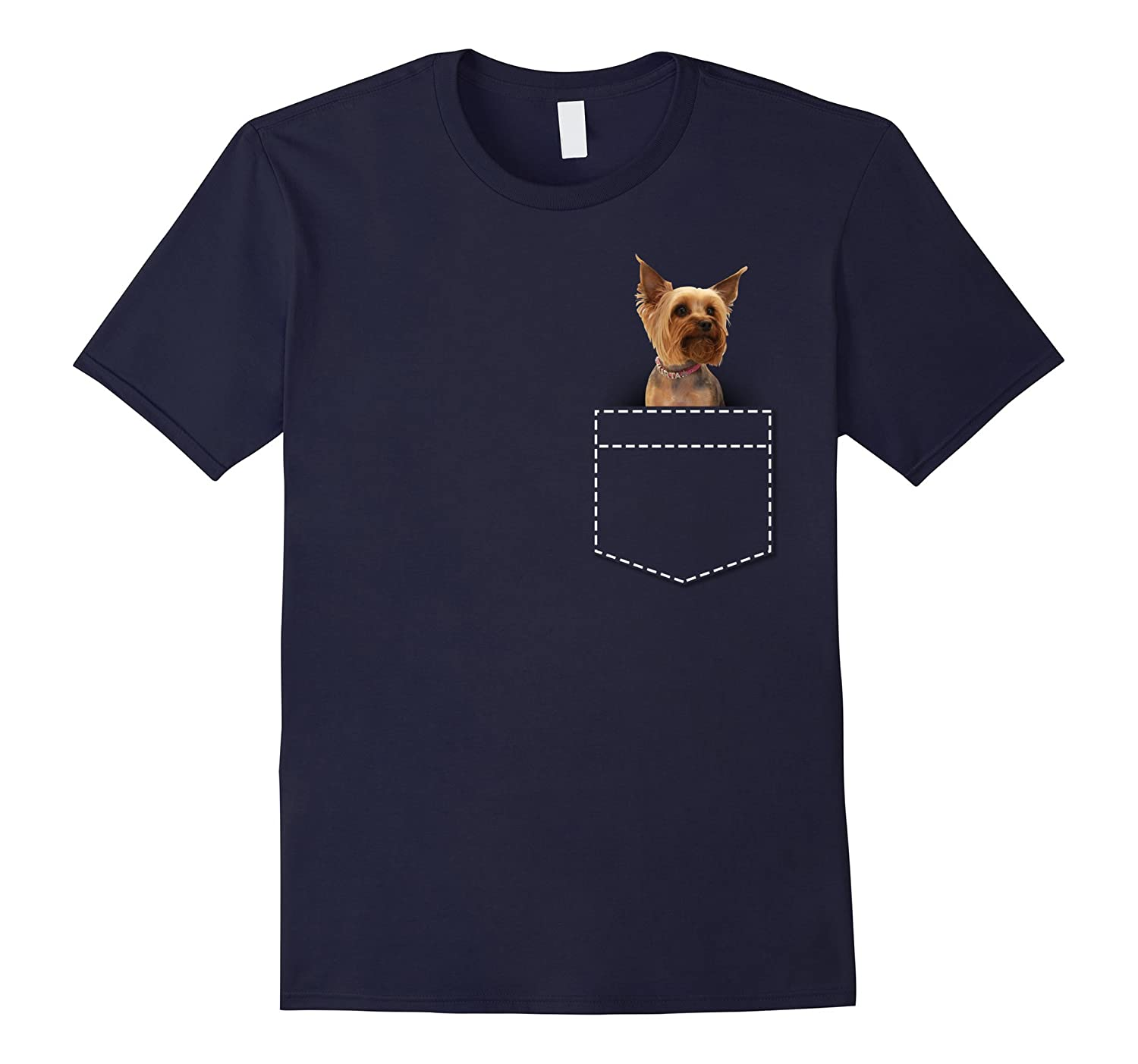 Yorkie In Pocket Yorkshire Terrier T-Shirt-TH