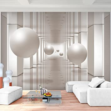 Fototapete 3D - Beige Vlies Wand Tapete Wohnzimmer Schlafzimmer Büro ...