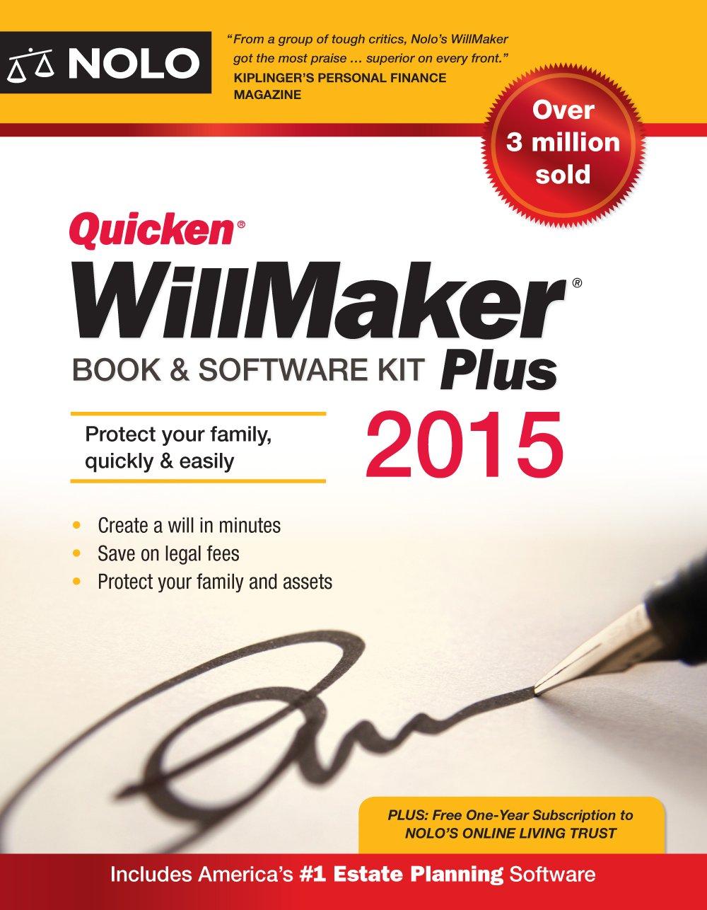 quicken willmaker plus 2015 edition book software kit editors quicken willmaker plus 2015 edition book software kit editors of nolo 9781413320732 books amazon ca