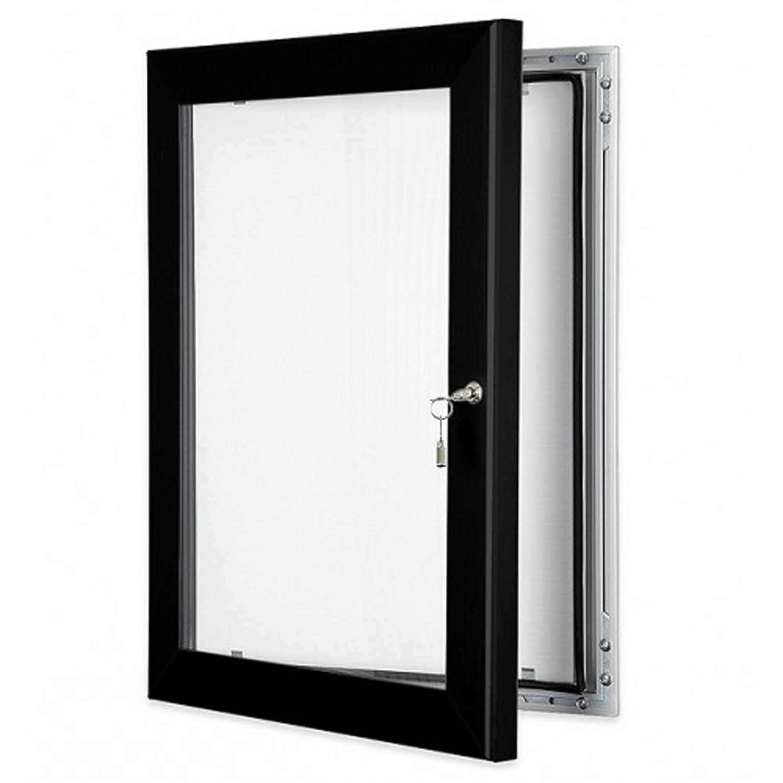 Black A2 Outdoor Lockable Poster Case Notice Boards
