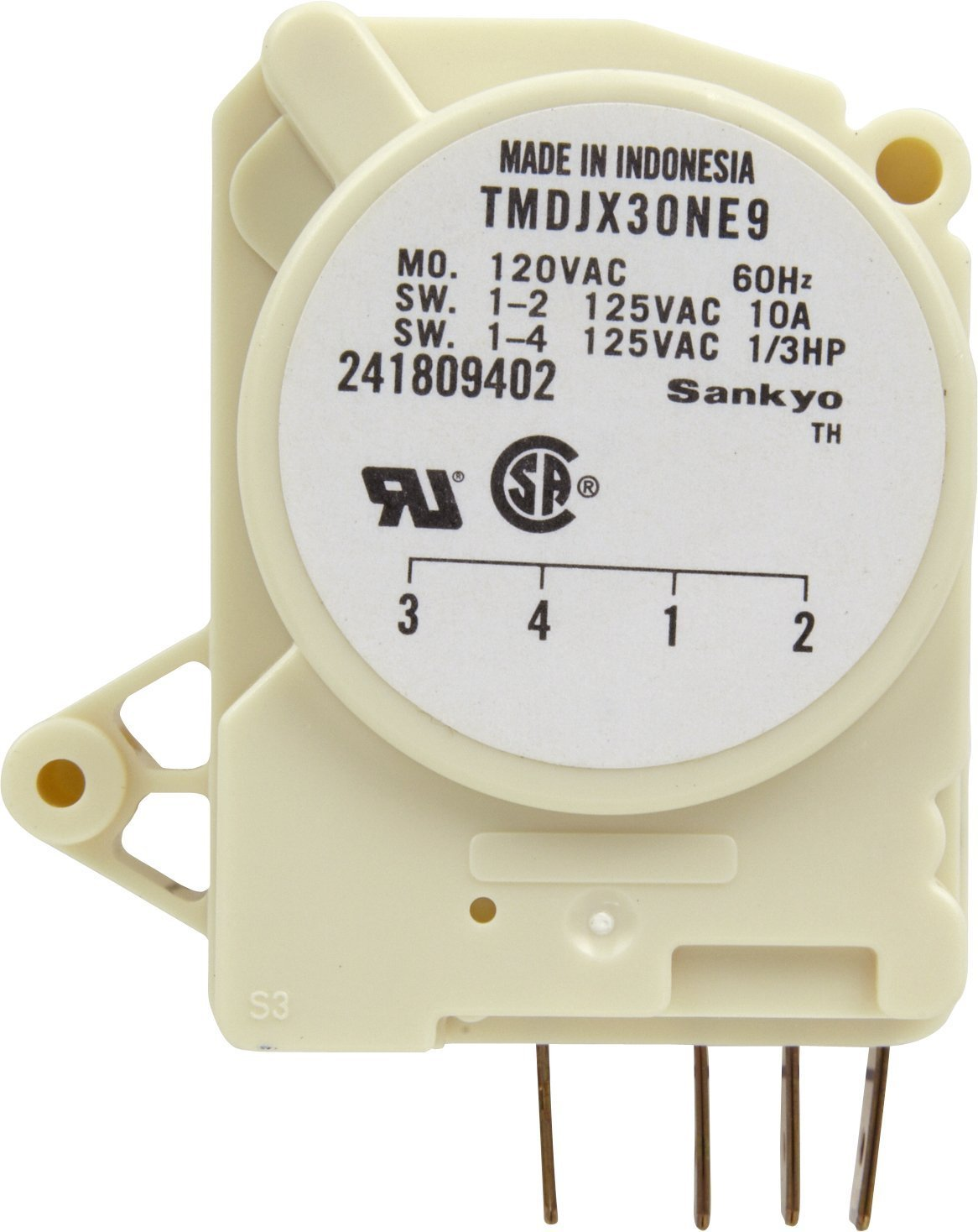 Edgewater Parts 241809402 Defrost Timer Compatible With Frigidaire Refrigerator