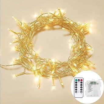 OxyLED LED de luz de cadena,10M 100 LED Luces de hadas de Navidad IP65