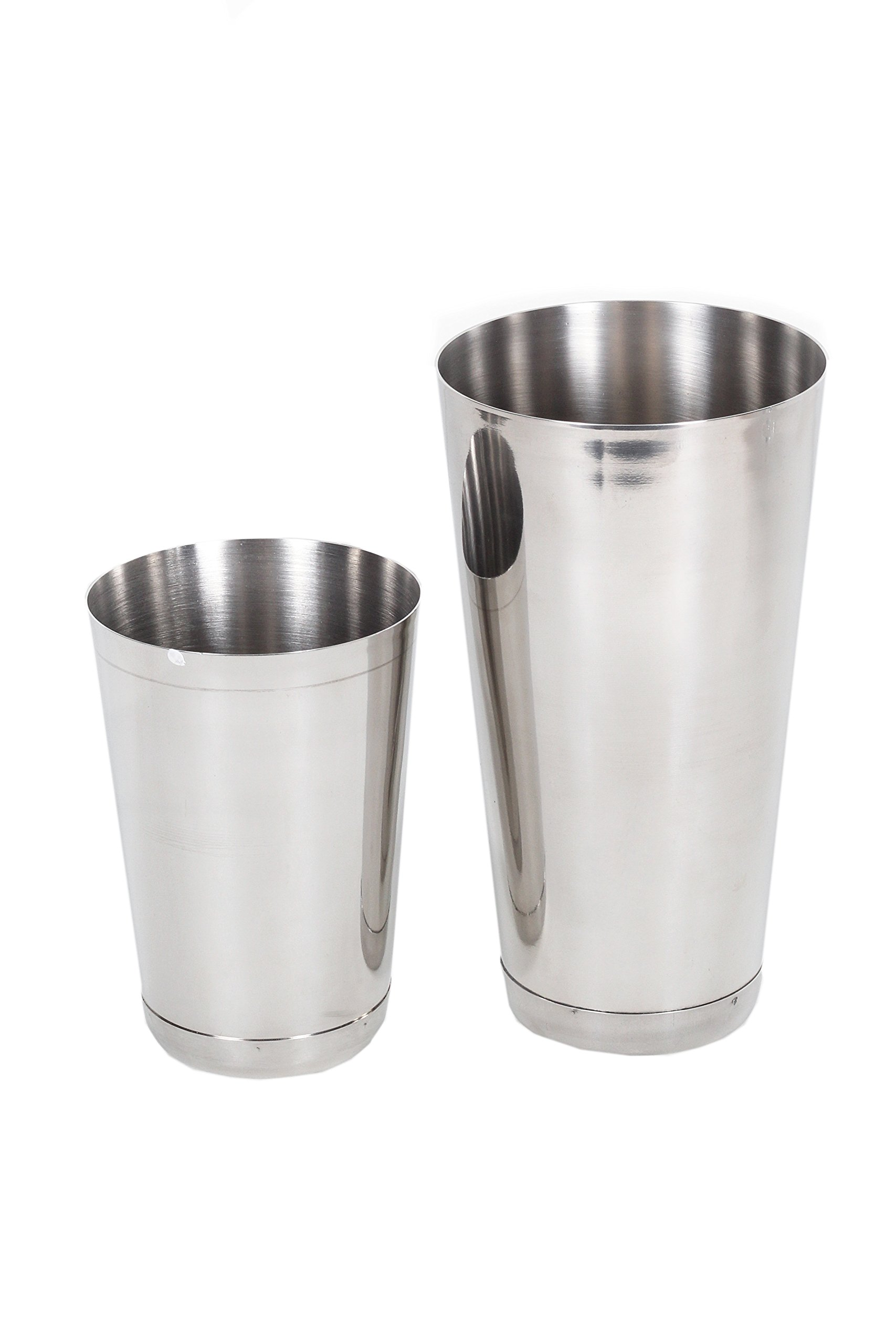 2 Piece Cocktail Shaker Set, 15 Ounce and 30 Ounce, Stainless Steel
