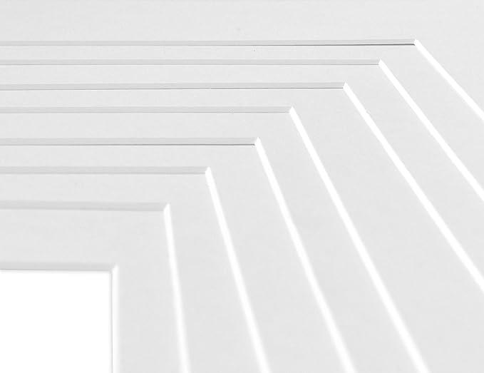 Deha Passepartout 40x50 Cm Fur Bilder Im Format 30x40 Cm Weiss Hellweiss