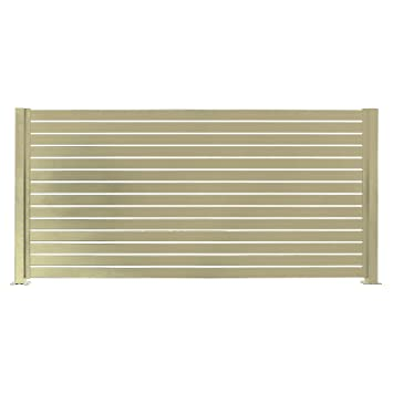aluminum privacy fence bronze stratco aluminum slat fencing kit beige 94 71quot horizontal privacy fence amazoncom 94