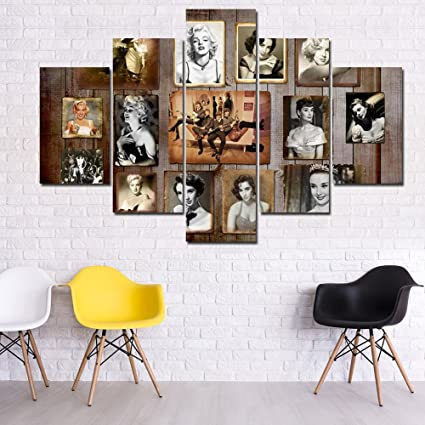 Rustic wall decor painting retro the beatles postes prints on canvas classic wall art5