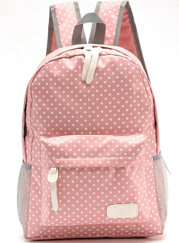 Bolso de escuela para chicas adolescentes Ligero Mochila Mochila de lona lunar de 14 -15 Mochila para portátil (Azul)