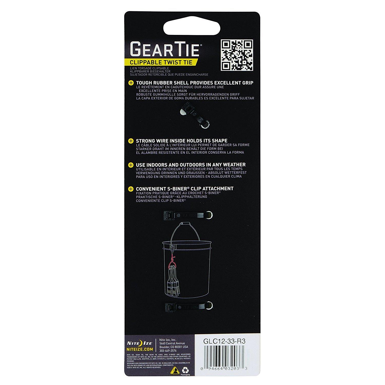 Nite Ize GLC12-33-R3 Gear Tie Clippable Twist Tie 12