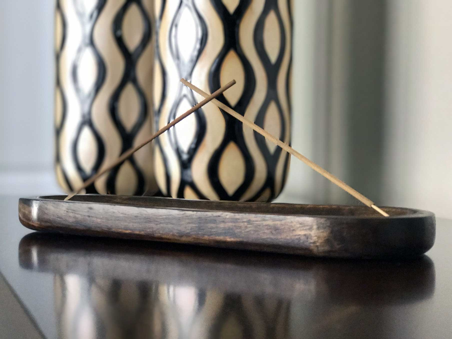 Kasa Style Trough Antique Wood Hand Made Double Incense Burner Ash Catcher by Kasa Style (Image #3)