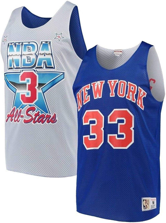 Mitchell & Ness NBA All Star 33 - Camiseta de Tirantes de los New York Knicks Patrick Ewing 1991, Color Azul