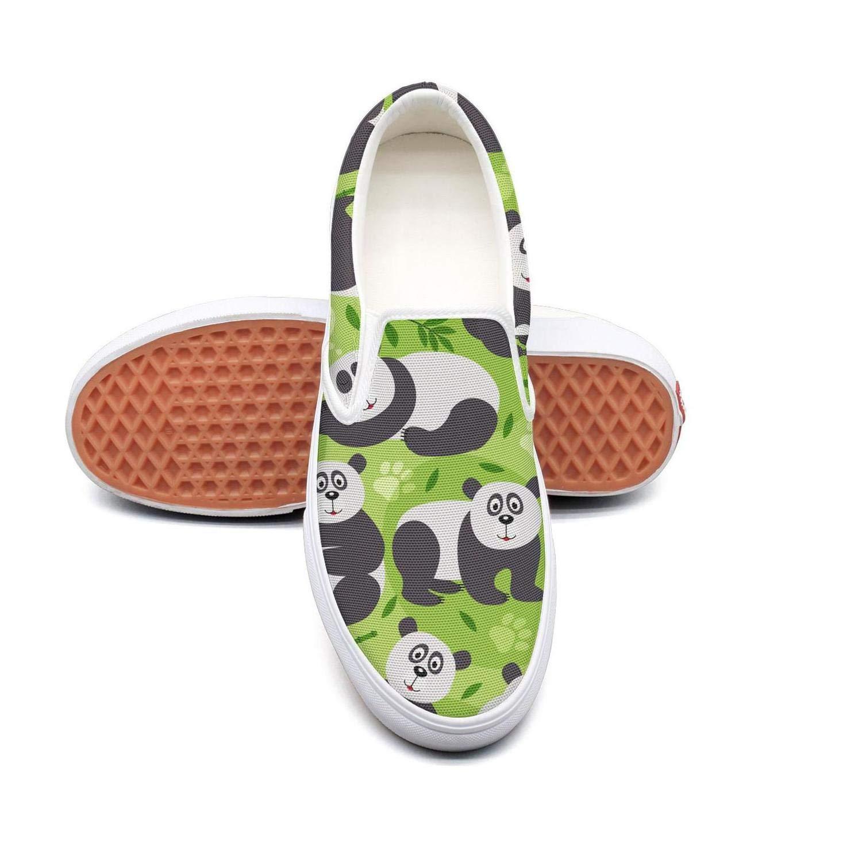 SKULLP Green Bamboo Panda Bear Plimsolls for Men Fashion Highly Breathable Cheap Running Shoes