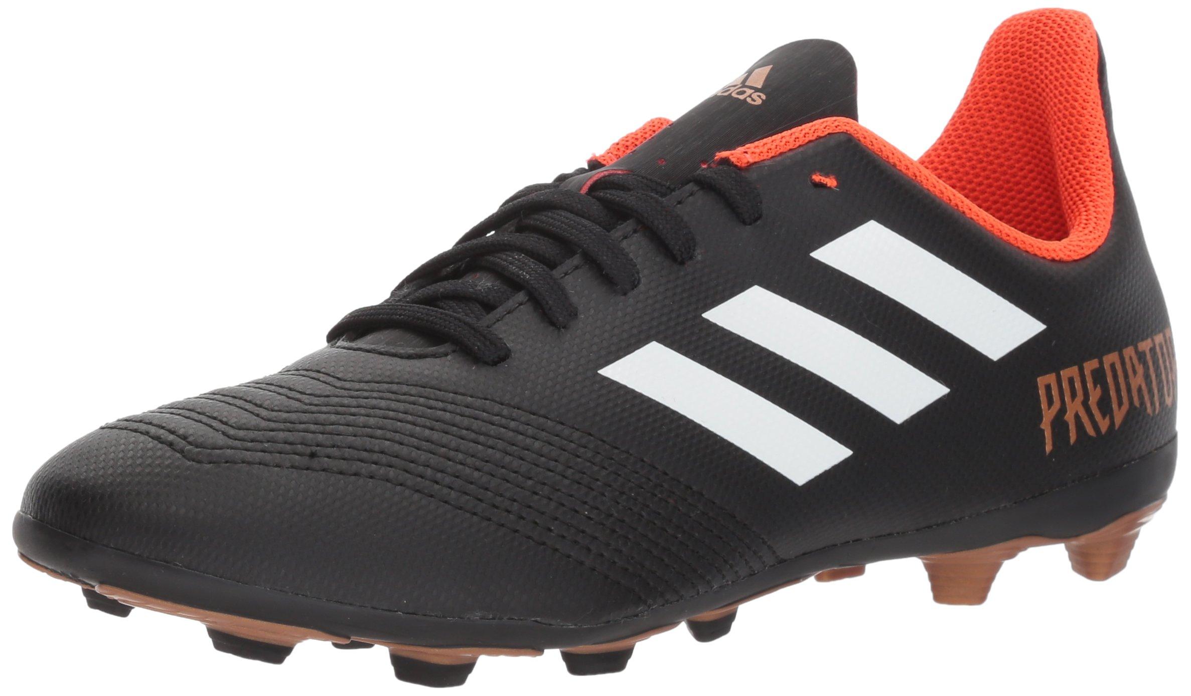 adidas Unisex-Kids Ace 18.4 Fxg J Soccer Shoe, Core Black/White/Solar Red, 5 M US Big Kid