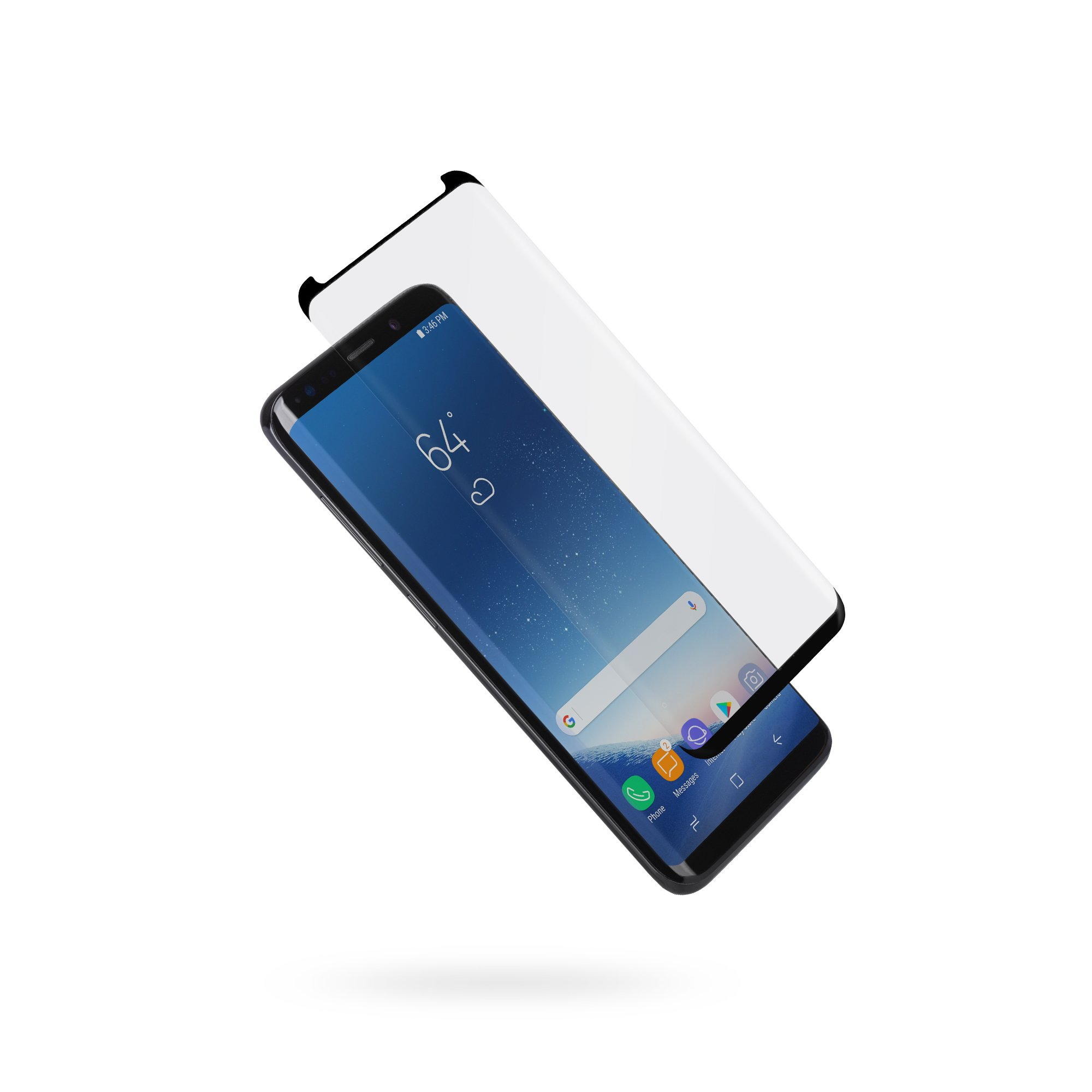 Moshi ionGlass Screen Protector for samsung Galaxy S9+ Full Coverage Bubble-Free Anti-Scratch