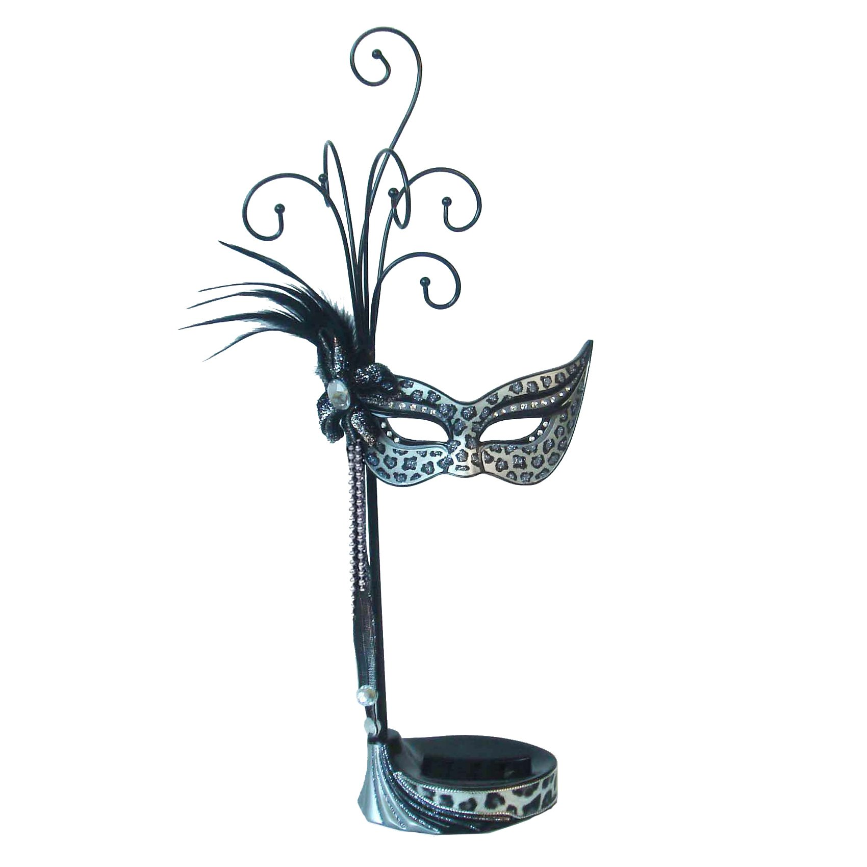 Animal Mask Jewelry Organizer Tree (Silver Leopard)