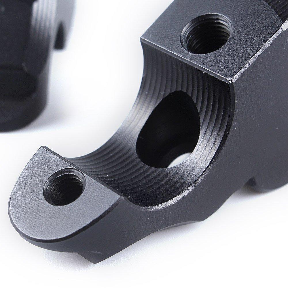 Plata Para RNineT Aluminio Elevador de montaje en manillar elevado Ampliar 28 mm arriba 25 mm atr/ás 2014-2018 R Nine T R9T 2015 2016 2017