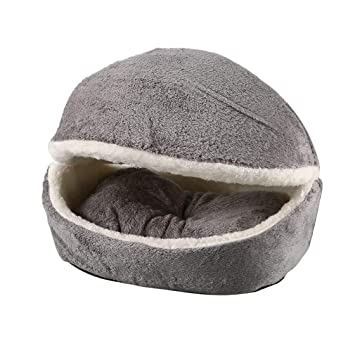 Lavable Cama de Perro Mascota Hamburguesa con Funda Desmontable Perro Almohada de Gato Almohada Casa de Perrito Saco de Dormir Invierno Suave Perrera ...