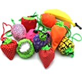 YUYIKES 10PCS Fruits Reusable Grocery Shopping Tote Bags Folding Pouch Storage Bags Convenient Grocery Bags for Shopping…