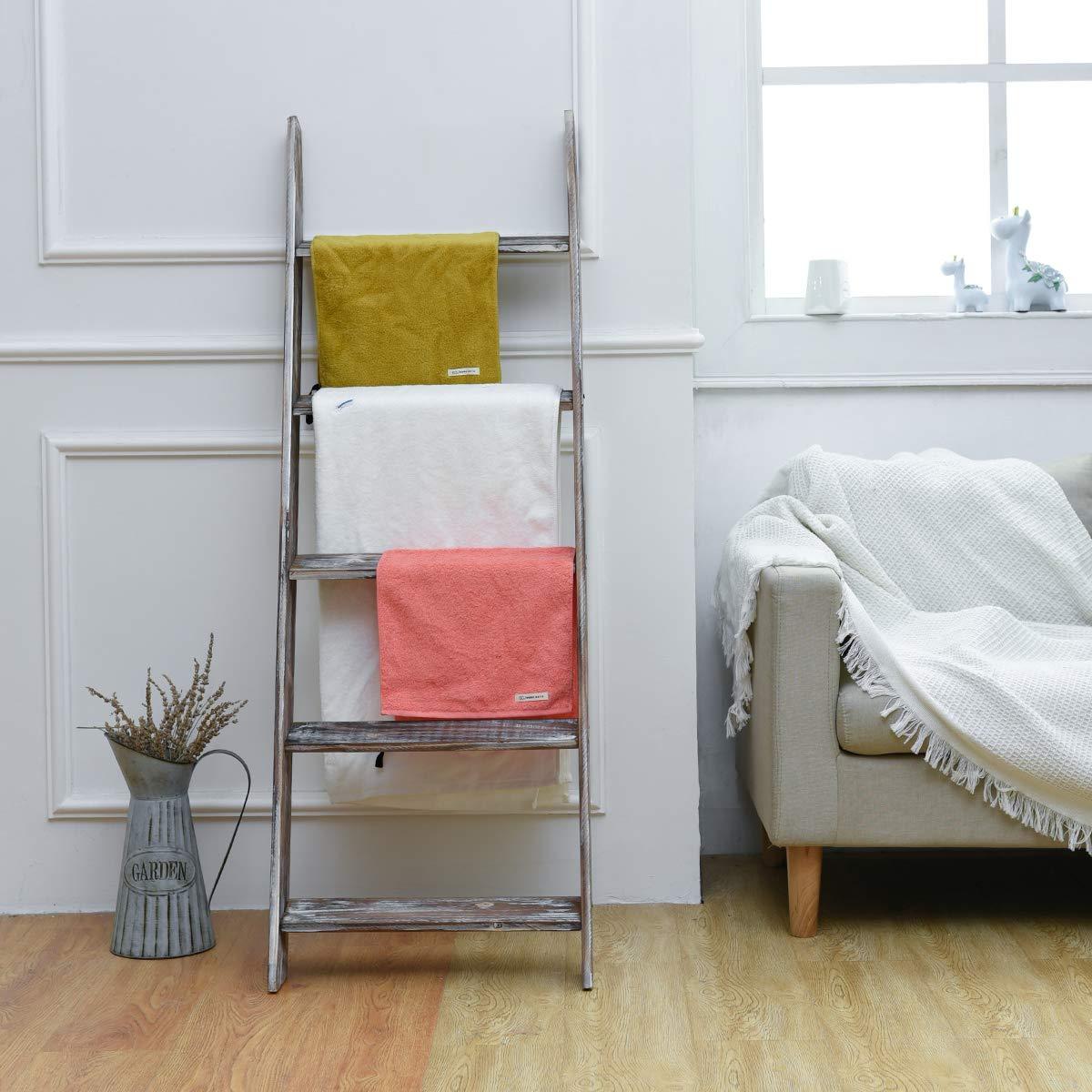 official photos 32e71 648c3 Gorgeous Rustic Wood Blanket Ladder, 4.5 Feet Tall, Decorative Shelf  Ladder, Hanging Towel Bar Rack, Leaning Shelf, Blanket Rack, Decorative  Ladder ...