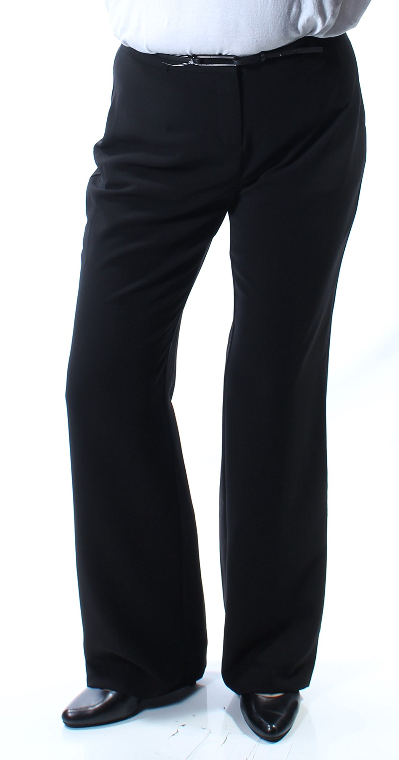 Style & Company Womens New 7322 Black Belted Boot Cut Wear to Work Pants 10 B+B