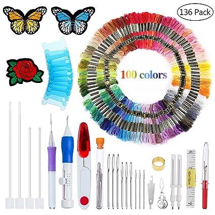 Amazon Com Magic Patterns Punch Needle Kit Craft Tool Embroidery