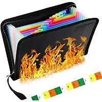 Fireproof File Folder Waterproof File Organizer A5 Size,13 Pockets Fire Proof Water Resistant Document Bag Money…