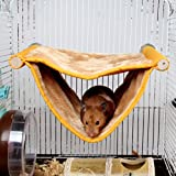 Onkessy Small Animal Christmas Hamster Gerbil Rat Hedgehog Squirrel Pumpkin Velvet House Bed House Nest with Cotton Pad For Cage