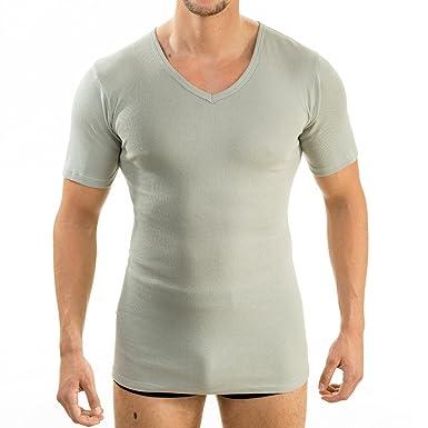 HERMKO 4880 3er Pack Herren kurzarm Business Shirt V-Neck (Weitere Farben), f2d9a32359