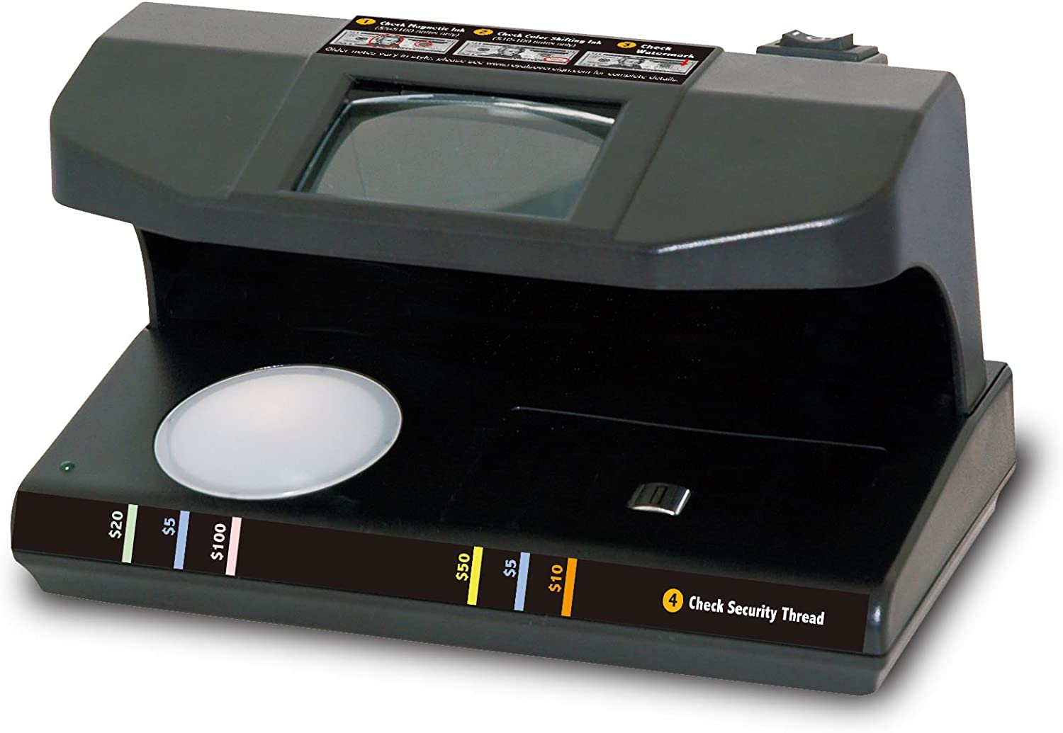 Royal Sovereign 4-Way Counterfeit Detector, Ultraviolet, Magnetic, Watermark, and Micro-Print Counterfeit Detection(RCD-3PLUS)