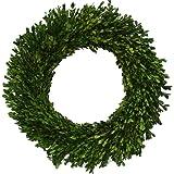 "Flora Decor Preserved Boxwood Wreath Round 16"""