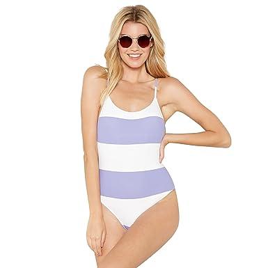 69b930fb2d511 Debenhams Faith Womens Lilac and White Stripe Swimsuit: Faith:  Amazon.co.uk: Clothing