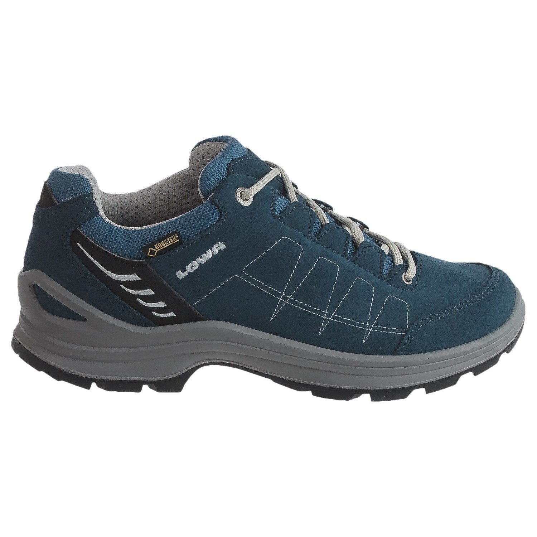 Lowa Women's Tiago GTX LO WS Hiking Shoe (9.5 B(M) US, Denim/Grey)