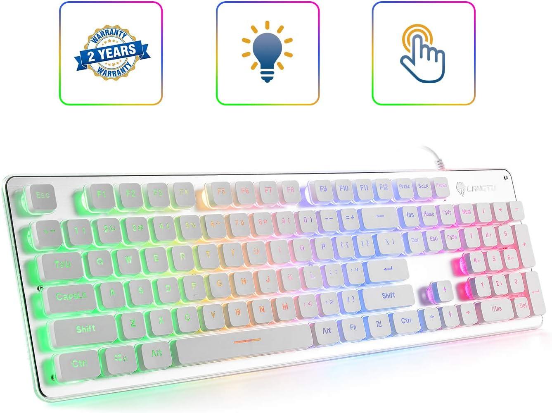 Membrane Keyboard Silver/White SW-L1-01R Rainbow LED Backlit Anti-ghosting 24 Keys