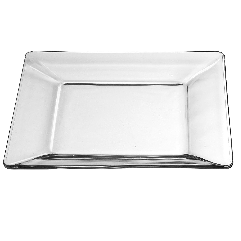Amazon.com: Mainstays Vajilla de vidrio cuadrado, 12 piezas ...