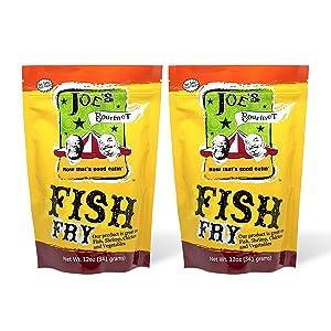 Joe's Gourmet Fish Fry, Seafood Breading Mix, As Seen on Shark Tank, 12 Oz (Original, 2 Pack)