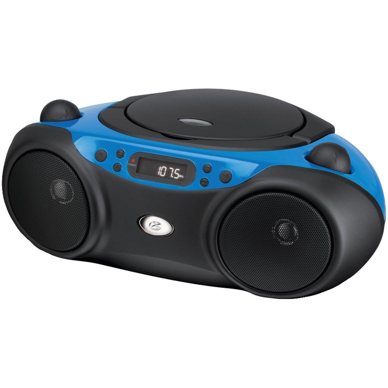 GPX BC232R CD Boombox with AM/FM Radio Inc. BC232BU