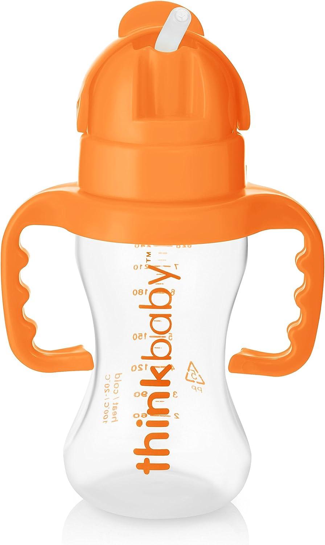 Thinkbaby/ /Enfants Bouteille de boissons et de leau sans BPA/ /Thinkster Paille Bouteille/ /Orange /255,1/gram//266/ml/