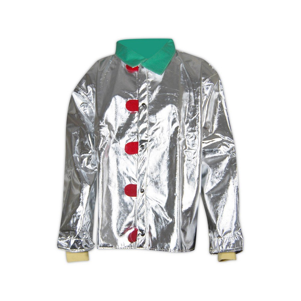 Chicago Protective Apparel 602-ACX-GRVCK-M 602-ACX-GRVCK 45'' Aluminized CarbonX Coat with Vented Back, Metallic & green, Medium